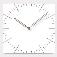 Cheap Square Decorative Wall Clocks For Living Room Brief Mute MDF Wood Large Hanging Wall Clock with needle wholesale
