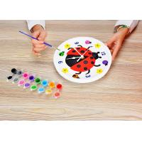 Quality Children's Arts And Crafts Toys DIY Assemble Plaster Clock Lovely Ladybug Design for sale
