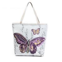 Cheap Butterfly Printed Shoulder Bags for Girls , Tote Shopper Bag wholesale