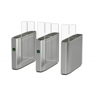 Cheap High-End Fashion Flap Barrier Gate With RFID Card Reader Turnstile Access Control System wholesale
