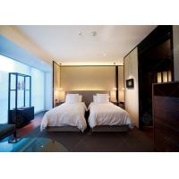 Cheap Comfortable Double Bed Style Hotel Bedroom Furniture Single Bed Size For Sale wholesale