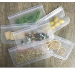 Cheap Lead Free Reusable Ziplock Bags For Snacks Fruit Storage / Leak Proof Lunch Bag wholesale