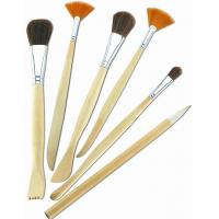 Cheap Synthetic & Wool & Mixture Hair Artist Painting Brushes Set Aluminium Ferrule Handle wholesale