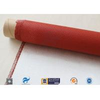 Cheap Single Sided Red Silicone Coating Fiberglass Cloth 50 Meters High Strength 100g wholesale