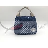 Cheap Blue 420D Polyester Travel Cooler Bag For Picnic Large Capacity 21.5*18*17 Cm  wholesale