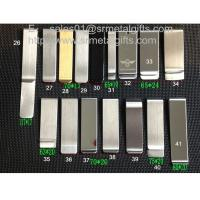 Cheap Slim steel money clip wallet selection, linear metal money clips for mens gift, wholesale