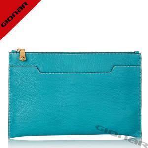 Cheap Chic Designer Pebble Grain Leather Clutch Handbags / Sea Blue Girl Leather Purses With Zipper Pockets wholesale