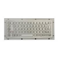 Cheap IP68 Stainless Steel Mini Industrial Metal Keyboard No FN Keys , With USB / PS2 Connectors wholesale