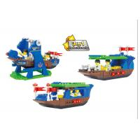 Cheap Plastic Children's Construction Building Blocks Toy Movable Pirate Ship wholesale