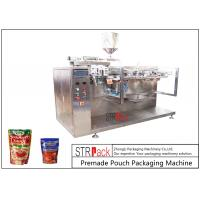 Cheap Sauce Premade Pouch Packaging Machine For Doypack , 3/4 Sides Sealed Bags , Pillow Bags wholesale