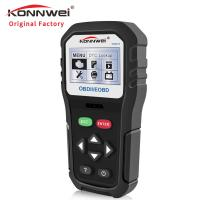 China Black Konnwei Car Diagnostic Scanner With Mini Printer ECU Coding And ECU Program on sale