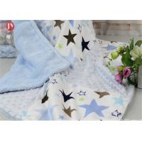 Cheap Breathable Comfort Custom Baby Blankets , Bubble Patchwork Baby Blanket Double Microfleece Layer wholesale