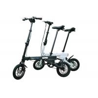 Simple Style Mini Folding Electric Bicycle Different Color With Soft Seat
