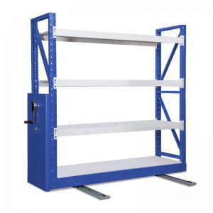 Cheap Customized Blue Steel Shelving  Shelfing Racks With Wheels Warehouse Use Stable wholesale