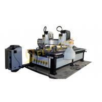 Cheap Multihead cylinder woodworking cnc router with double rotary axis two heads on sales wholesale