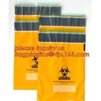 Cheap Shield Autoclavable Biohazard Bags , Biohazard Waste Bags With Pocket Medical Specimen wholesale