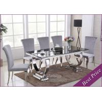 China Glass Stainless Steel Dining Table Base Suppliers in Chinese Factory (YS-6) on sale