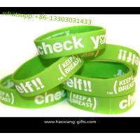 Buy cheap customized fashion lover luminous custom 3D rubber silicone wristband/bracelets from wholesalers
