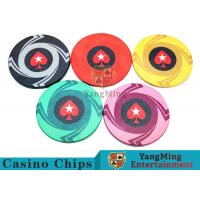 Cheap Ceramic Casino Poker Chips , Poker Chips And Cards With Dynamic Textures Design wholesale