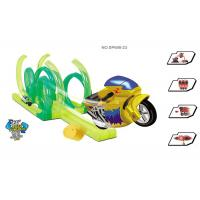 "Cheap 42 "" Inertia Motorcycle Kids Race Track Set High Level 360° Rotation 36 Pcs wholesale"