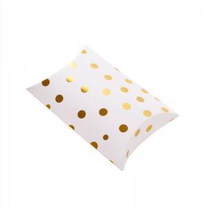 Cheap Bronzing Dots Gift Box Pillow Shape Packaging Box Carton Nuts Dried Fruit Stripes Paper Box Candy Bag wholesale