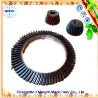 Cheap Changzhou Mingdi Customized OD 1.5m Hopoid Spiral Bevel Gear / Helical Bevel Gear Set wholesale