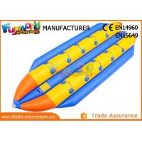 Cheap 0.9mm PVC Tarpaulin Inflatable Banana Boat / Inflatable Water Toys wholesale