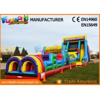 Cheap Vertical Rush Inflatables Obstacle Course , 0.55mm PVC Tarpaulin Commercial Blow Up Slide‎ wholesale