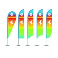 Colorful Personalized Advertising Flags , Vertical Roadside Flags And Banners For Businesses