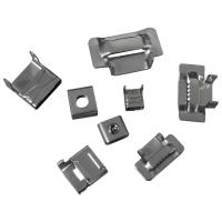 Cheap 20mm 25mm Stainless Steel Banding Clips , Banding Strap Clips Customized Thickness wholesale