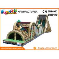 Cheap Indoor Or Outdoor Mega Inflatable Assault Course With Digital Painting wholesale