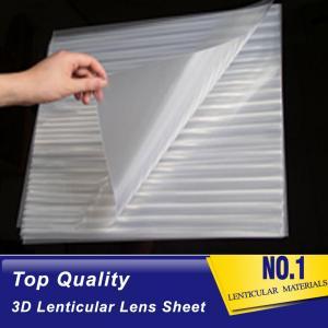 Cheap PLASTIC LENTICULAR blank 3d lenticular lens sheet 100 Lpi Transparent PET Lenticular Film for Advertisement And Packing wholesale