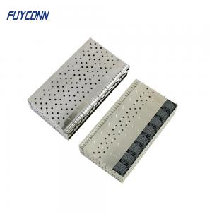 Cheap Female 2*8 16 Ports 320pin Press Pin SFP Cage Assembly wholesale