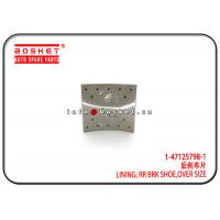 China 1-47125798-1 1471257981 Over Size Rear Brake Shoe Lining Suitable for ISUZU 10PE1 FTZ on sale