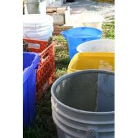 1L plastic bucket with easy pull cover for paint