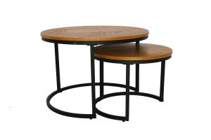 Cheap 3 Set Of 18mm 70x48mm Round Wood Dinning Table wholesale