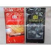 Cheap Resealable Plastic Cigar Bags With Humidity Controlled System For Nicaragua Cigars / Dominica Cigars wholesale
