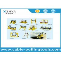 China Different Types Underground Cable Pulling Roller Cable Pulley With Aluminum / Nylon Wheel on sale
