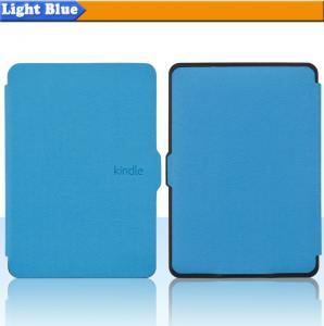 Cheap Portable PU Kindle Paperwhite Protective Case With Magnet ,  Blue Color wholesale
