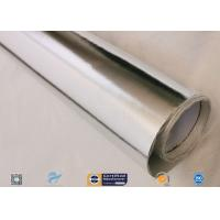 Cheap 0.45mm Thick 13oz Silver Coated Fabric With Aluminium Foil For Facing wholesale