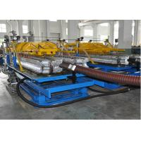 PE / PP Single Layer Spiral Pipe Extrusion Line , SBG63-250 Spiral Pipe Making Machine