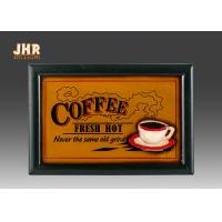 Cheap Coffee Shop Wall Decor Wooden Wall Signs Home Decorations Antique Wood Wall Art Signs wholesale