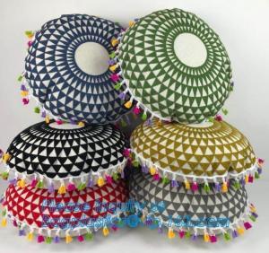 Cheap Ethnic Reusable Eco Bags Indian Mandala Style Meditation Pillow Embroidered Suzani wholesale