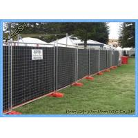 Hot Dipped Galvanized Temporary Mesh Fencing , Heavy Duty Portable Fence Panels