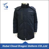 Cheap Warm Dark Navy Security Guard Coats Waterproof Cold Resistance Work Jackets wholesale