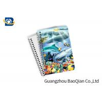 Cheap Eco Friendly Paper 3D Lenticular Notebook Ocean / Animal Pattern With Spiral wholesale