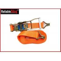 Buy cheap 5 Ton 10m Double j hook lashing tie down straps for trucks , Lashing ratcheting from wholesalers