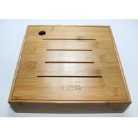 Cheap Custom Square Gift Packaging Bamboo Display Box, Wooden Tea Storage Box With 4 Compartments And Lids wholesale