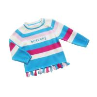 Cheap Colorful Stripe Round Neck knitted baby clothing, Children Chunky Knit Sweater With Cotton wholesale