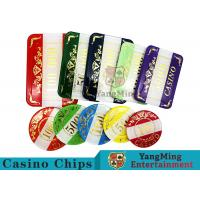 Cheap Casino Style Numbered Poker Chip Set Bright Color With Customized Print Logo wholesale